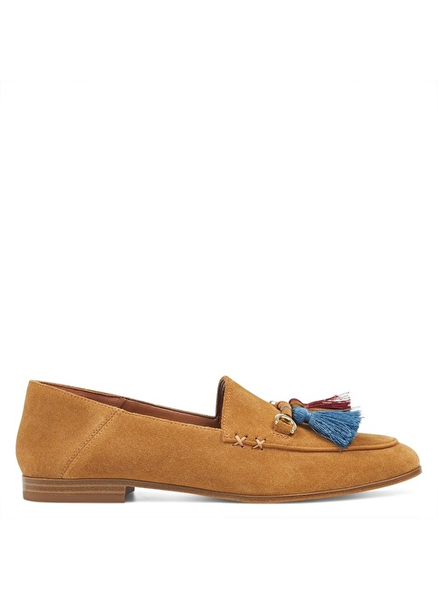 Nine West Desenli Loafer Ayakkabı Hardal